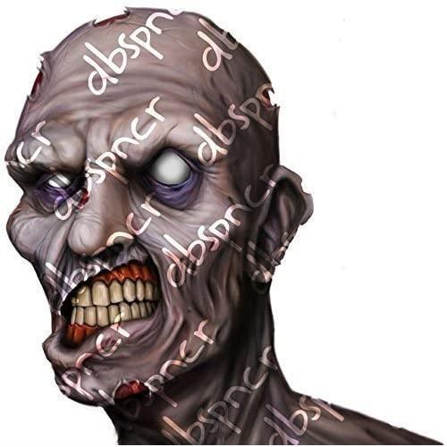 Adesivo Zombie Horror da parete in PVC, per Halloween