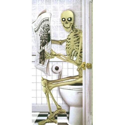 Adesivo da Parete scheletro Halloween in PVC, autoadesivo
