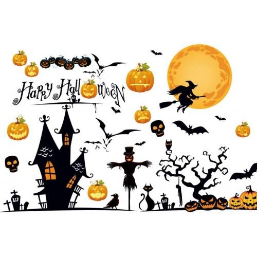 Adesivi scenografia per Halloween, in PVC, autoadesivi