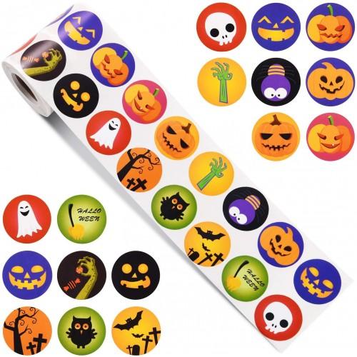 720 Adesivi di Halloween, tondi, per decorazioni e regalini