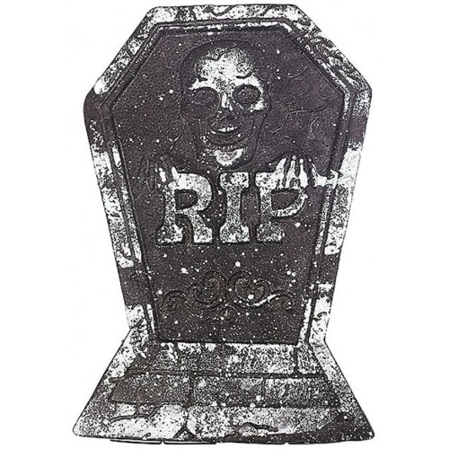 Lapide finta di Halloween, pietra tombale in polistirolo