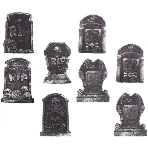 Set  8 Lapidi di Halloween terrificanti e caratteristiche