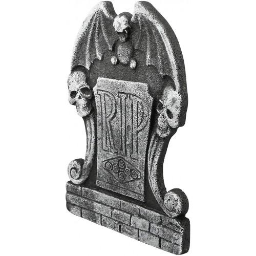 Lapide da Cimitero 38 x 25cm di Halloween , teschi e ali