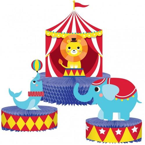 Centrotavola con animali del circo, 1 pezzo