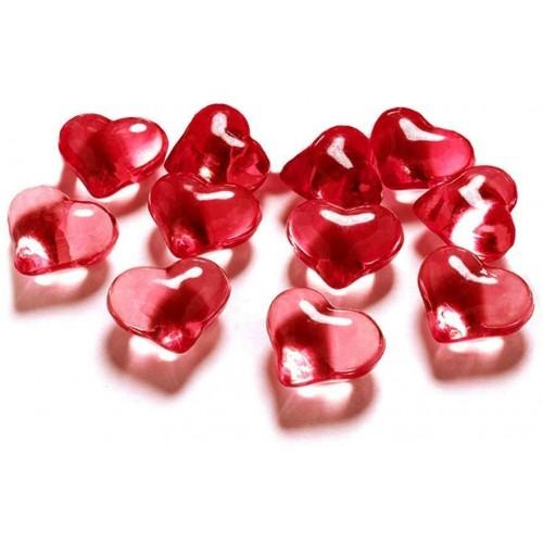Set 30 Cristalli a forma di cuore - accessorio tavola San Valentino