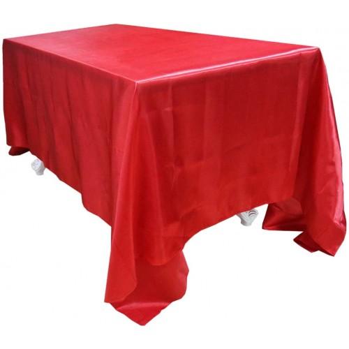 ❤ Tovaglia monocolore rossa in raso, per feste