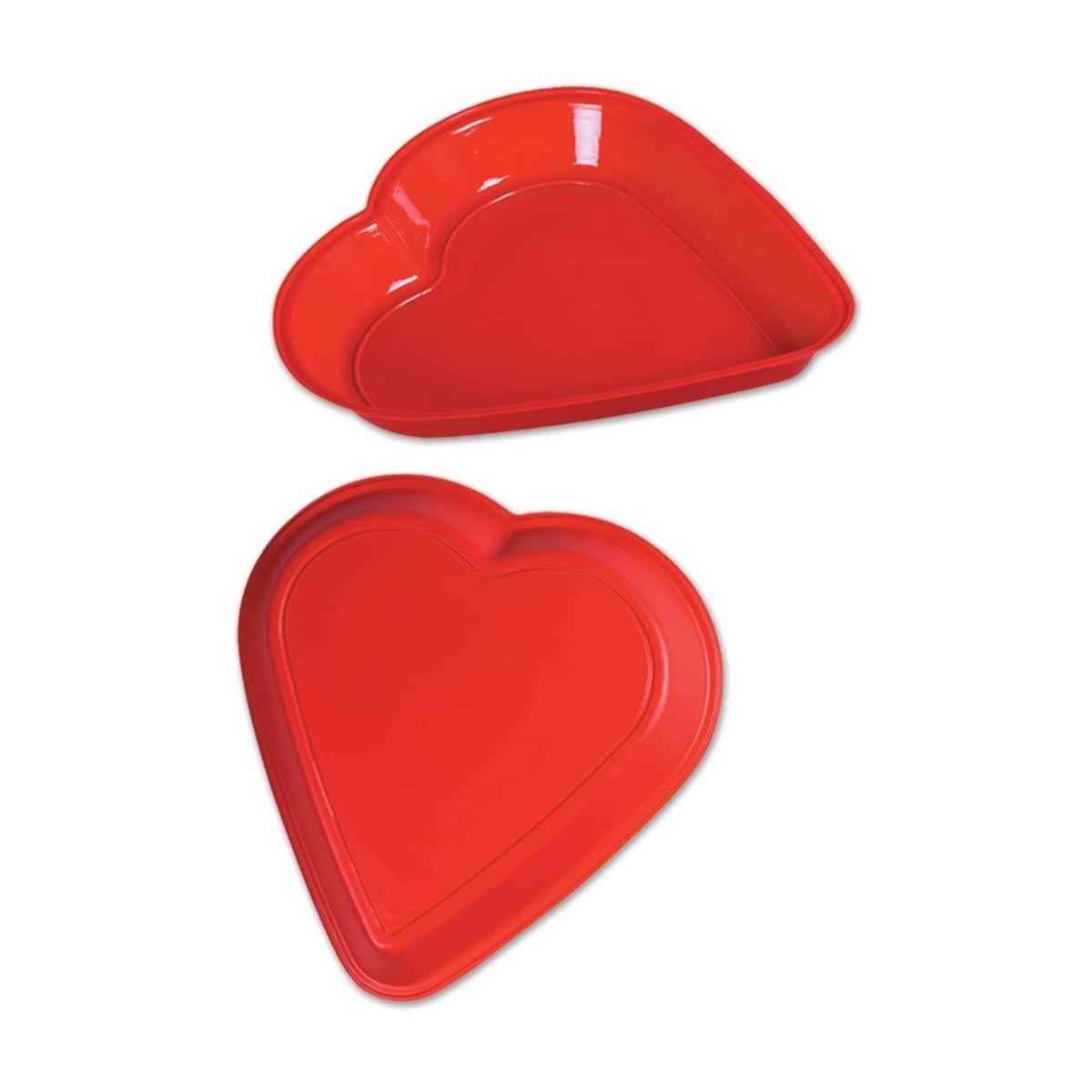 Piatto forma cuore rosso da 30 cm - San Valentino