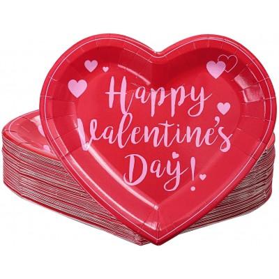 Set 50 piatti forma cuore per San Valentino, per cene romantiche