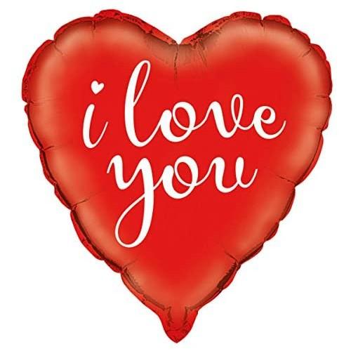 Palloncino a forma di cuore, I Love You, colore rosso, per San Valentino