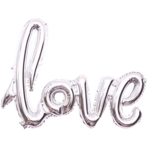 Supershape scritta Lave, colore argento, per matrimonio