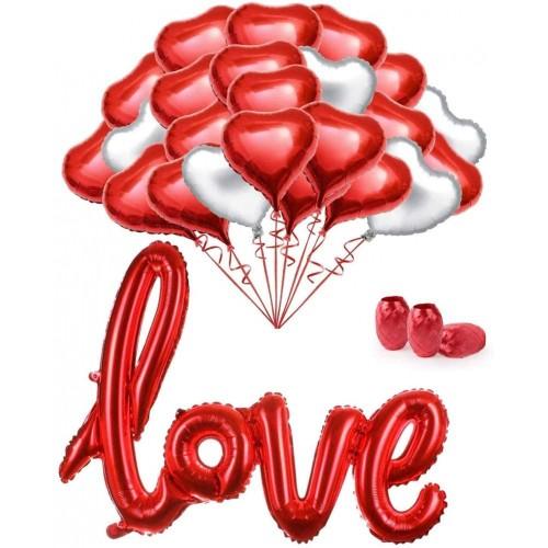 Composizione di palloncini per San Valentino, 34 articoli