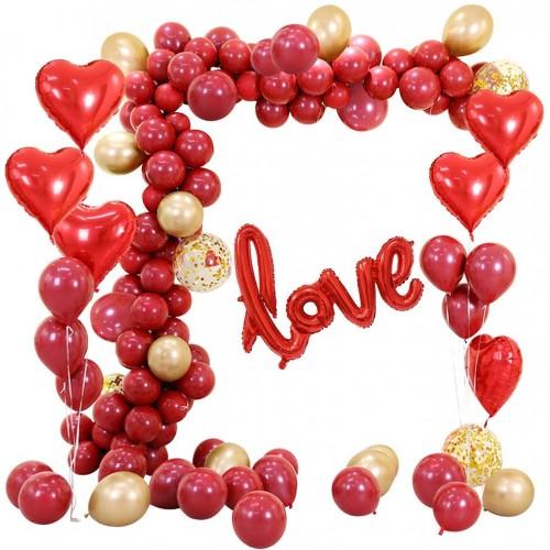 Arco di palloncini San Valentino con 86 pezzi, per allestimenti romantici
