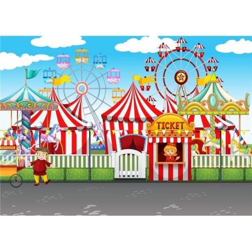 Decorazione murale Circo, fondale, poster per feste di compleanno