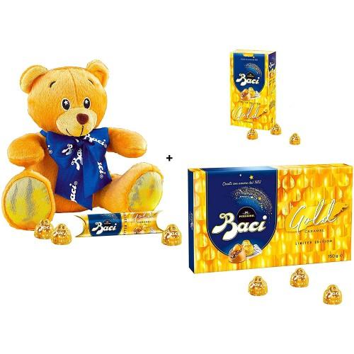 Confezione Baci Perugina Gold Caramel e Orsetto, idea regalo