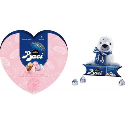 Confezione regalo Baci Perugina rosa e Peluche Foca, Limited Edition