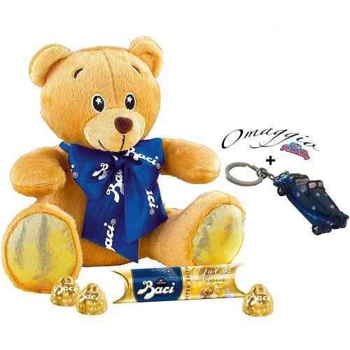 Confezione regalo peluche orsetto e Baci Perugina Gold Caramel