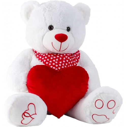 Grande peluche orsacchiotto con cuore da 100 cm, per San Valentino