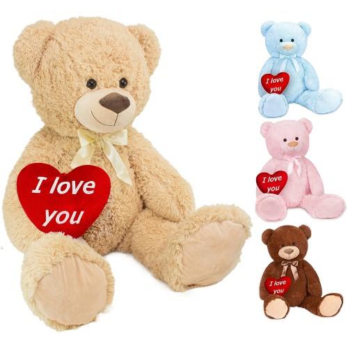 Peluche di San Valentino, orsetto con cuore, colori assortiti