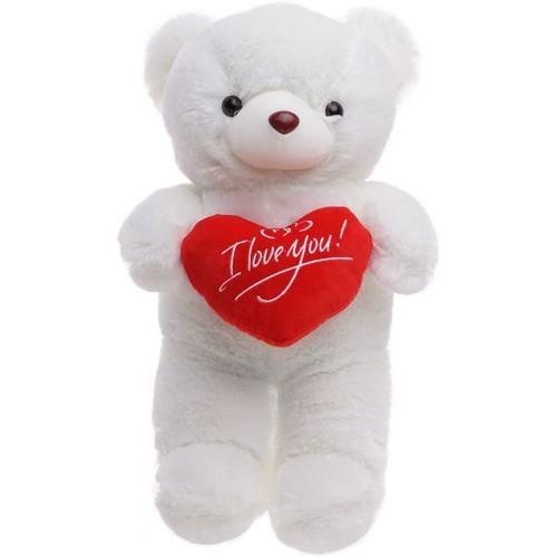 Peluche orsetto bianco per San Valentino