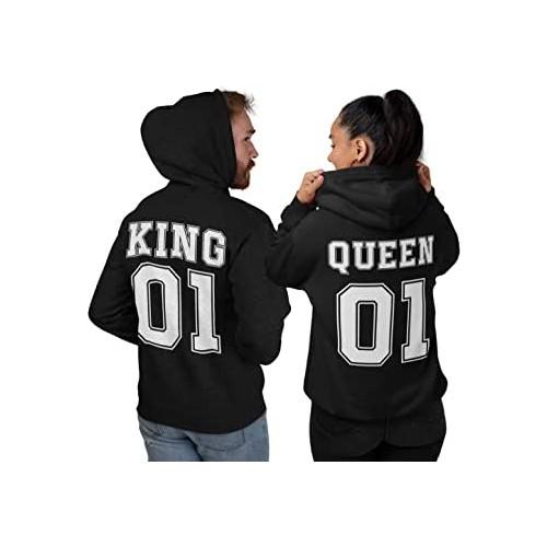 Coppia felpe King & Queen 01, Idea Regalo per San Valentino
