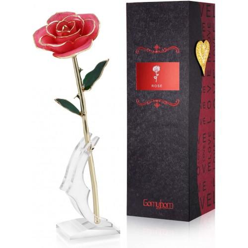 Rosa Eterna placcata con oro 24K, idea regalo San Valentino