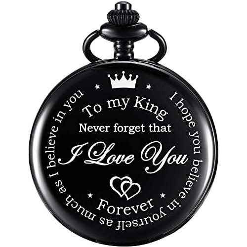 Orologio da tasca con incisione, regalo San Valentino per Lui