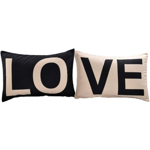 Set di federe LOVE per lui e per lei, idea regalo San Valentino