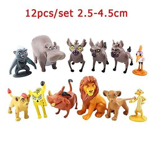 aolongwl Giocattoli Modello 12phe The Lion Guard King Kionpvc Toy Animal Cartoon Action Figure Anime Bambini Figurine Bambola