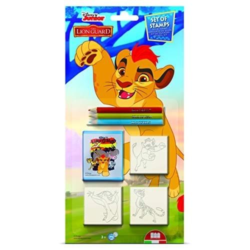 Multiprint Blister 3 Timbri per Bambini Disney Lion Guard, 100% Made in Italy, Set Timbrini Bimbi Personalizzati, in Legno e