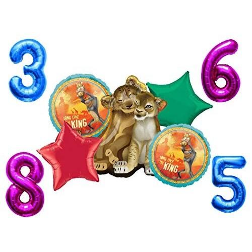 Anagram IRPot - Bouquet Palloncini N 3 RE Leone The Lion Guard + 1 Numero Foil A Scelta