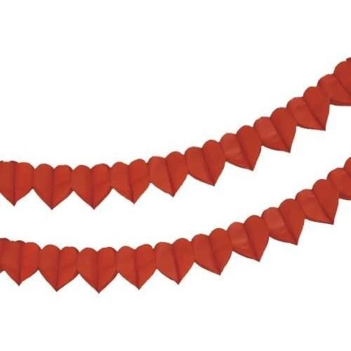 Festone cuori rossi da 4 mt per San Valentino