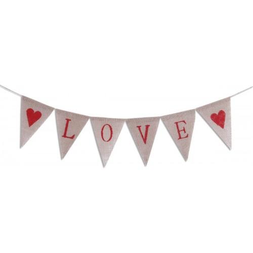 Feste in Iuta per San Valentino, scritta LOVE e cuoricini
