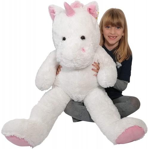 Peluche gigante Unicorno da 90cm, idea regalo romantica