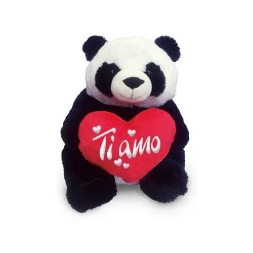 Peluche Panda con cuore e scritta Ti Amo, per San Valentino