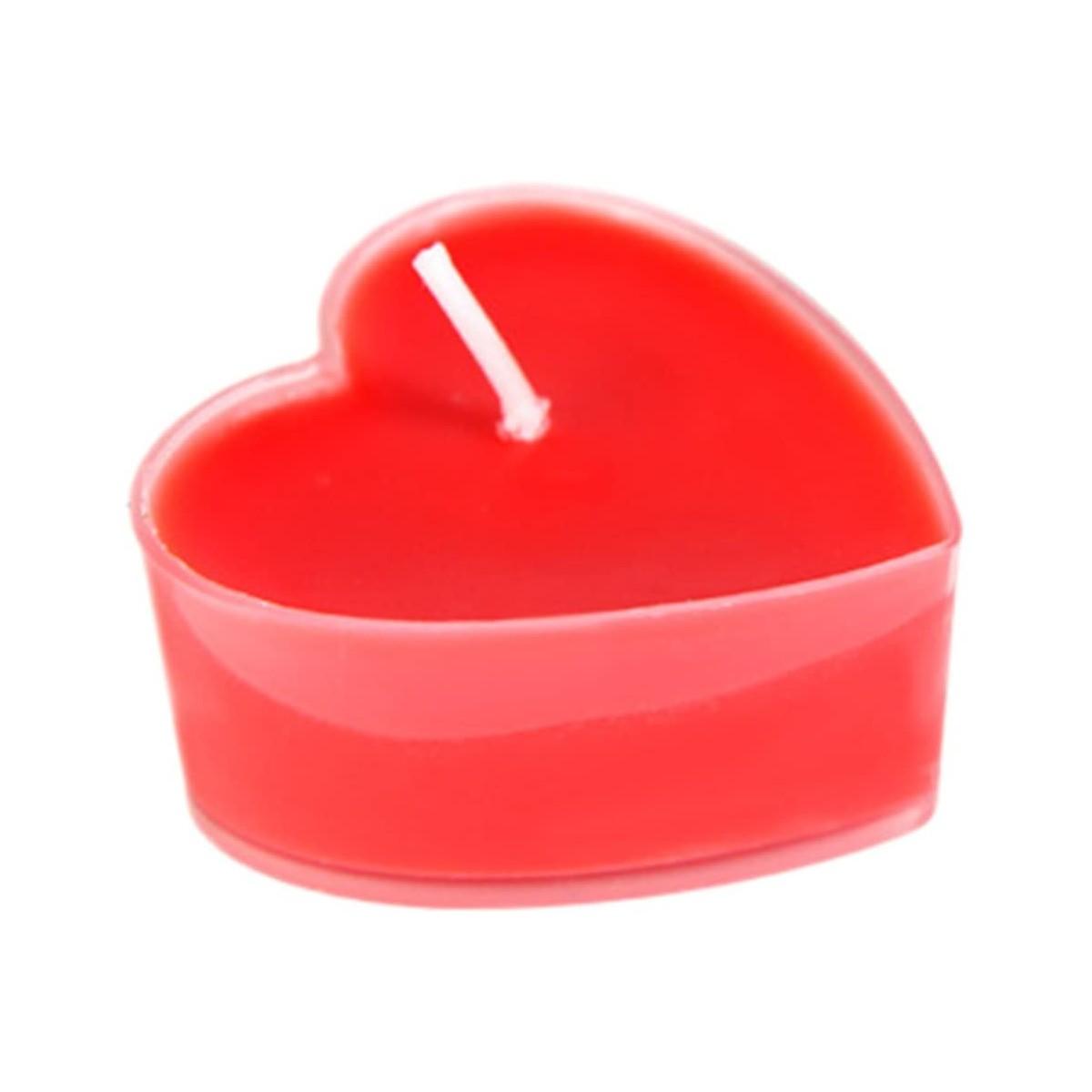 Set da 9 candele profumate a forma di cuore, per San valentino