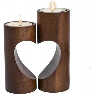 Portacandele in Legno forma cuore, idea regalo