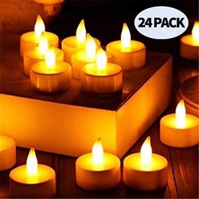 24 Candele LED elettriche, con telecomando, idee romantiche