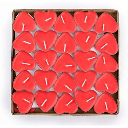 Set da 50 Candele Galleggianti cuore rosso, San valentino