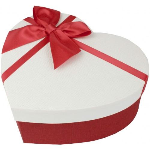 Scatola regalo Cuore con nastro e fiocco, per regali romantici
