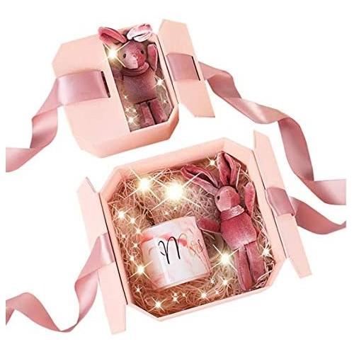 Scatola regalo ottagonale con nastrino, per confezionamento regali