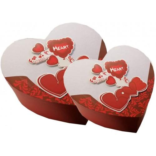 Set 2 scatole regalo Love forma cuore, San Valentino festa