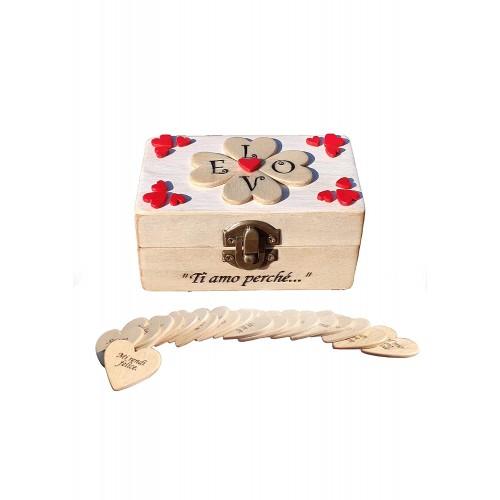 Cofanetto in legno per regalo San Valentino, idee romantiche