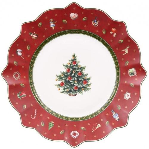 Piatto vassoio in porcellana di Natale, con decorazioni, da collezione