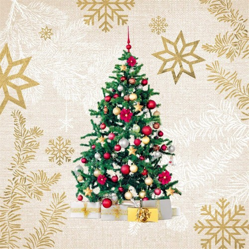 Set 20 Tovaglioli di carta Natalizi, monouso, per decorazioni