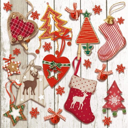 Set 20 tovaglioli di Natale per la tavola, originali e simpatici