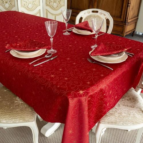 Tovaglia con stelle di Natale - Christmas Star Red in cotone