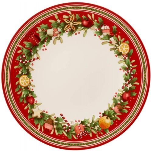 Vassoio, piatto in porcellana Natalizio da 27 cm, centrotavola