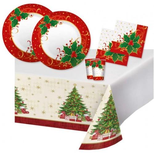 Kit per 32 ospiti tema Natale, stampe Albero Natalizio e stella