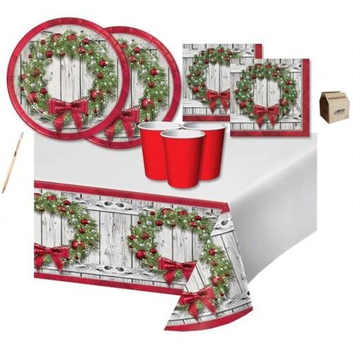 Kit per 40 invitati di Natale, stampa ghirlanda natalizia