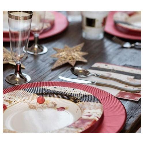Kit 8 Ospiti per tavola di Natale, coordinato completo ed elegante